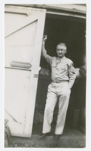 Primary view of object titled '[Staff Sergeant Ryan in Doorway]'.