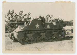 Primary view of object titled '[Soldiers Training on Tank]'.