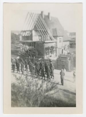 Primary view of object titled '[Soldiers Standing at Parade Rest]'.