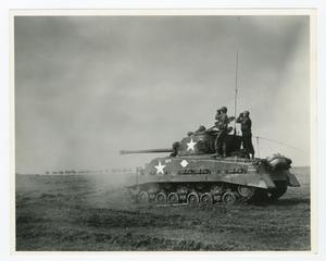 Primary view of object titled '[Soldiers Test Firing an M4 Tank]'.