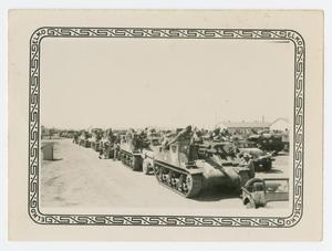 Primary view of object titled '[Motor Pool at Camp Barkeley]'.