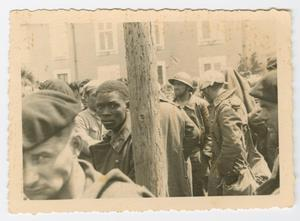 Primary view of object titled '[A Group of Prisoners of War]'.