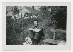 Primary view of object titled '[Man Sitting on the Ground]'.