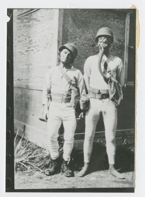 Primary view of object titled '[Vincent Caulfield and Kinkoph Wearing Thermal Underwear]'.