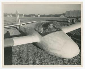 Primary view of object titled '[Men in Glider Plane]'.