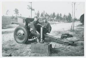 Primary view of object titled '[Soldiers Seated on Gun]'.