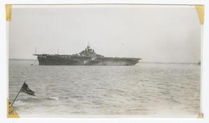 Primary view of object titled '[Anchored Aircraft Carrier]'.