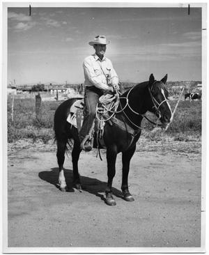 Primary view of object titled 'Jack Shaw on Rusty the Horse'.