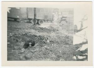 Primary view of object titled '[Soldier in a Foxhole]'.