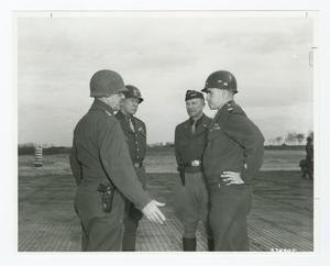 Primary view of object titled '[Generals Conferring in Luneville, France]'.