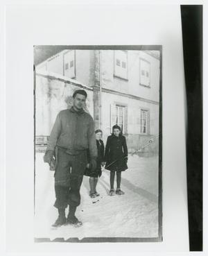 Primary view of object titled '[Soldier by Two Girls]'.