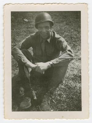 Primary view of object titled '[First Sergeant Brunner Sitting]'.
