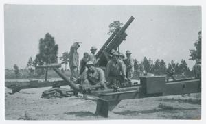 Primary view of object titled '[Crew by Ground Mounted Gun]'.