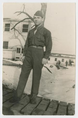 Primary view of object titled '[Soldier on Sidewalk]'.