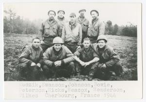 Primary view of object titled '[Group of 494th AFA Soldiers]'.