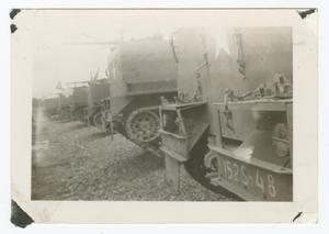 Primary view of object titled '[Firing Line of Mounted Machine Guns]'.