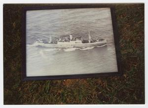 Primary view of object titled '[Photograph of a Photograph of the U.S.A.T. Kota Baroe]'.