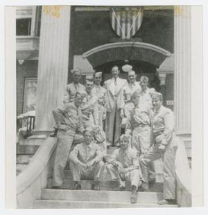 Primary view of object titled '[Soldiers at Free Servicemen's Lounge]'.