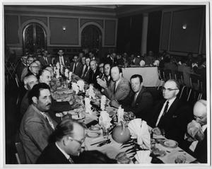 Primary view of object titled 'Men in Suits at Banquet'.