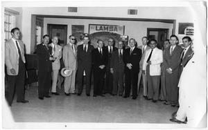 Primary view of object titled 'Men at LAMSA Gathering'.