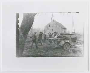 Primary view of object titled '[German Prisoners by Jeep]'.
