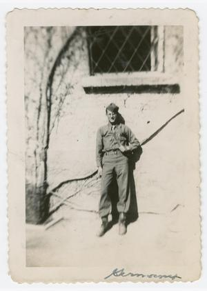Primary view of object titled '[William Giannopoulos Under Landsberg Prison Window]'.