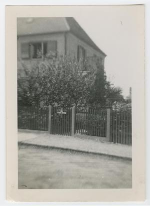 Primary view of object titled '[Gated Two-Story House]'.