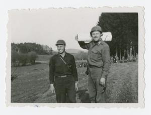 Primary view of object titled '[Two Lieutenants]'.