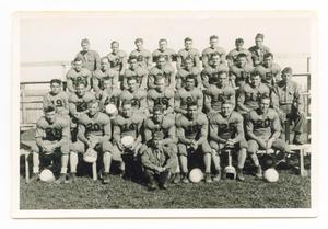 Primary view of object titled '[12th Armored Division Football Team]'.