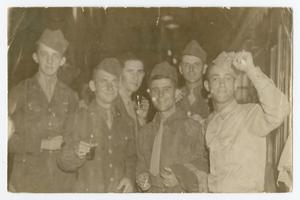 Primary view of object titled '[Soldiers at Restaurant]'.