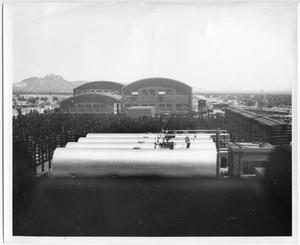 Primary view of object titled '[Photograph of Mexican Factory]'.