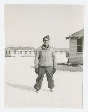 Primary view of object titled '[Soldier Standing in Snow]'.