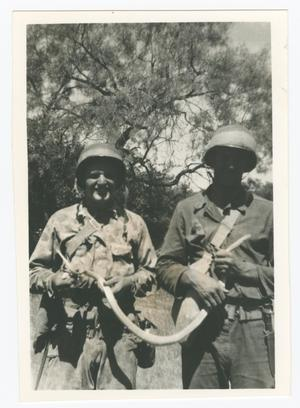 Primary view of object titled '[Two Soldiers Holding a Snake]'.
