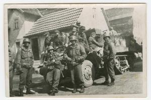 Primary view of object titled '[American Soldiers with Captured Waffen-SS]'.