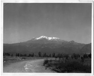 Primary view of object titled '[Photograph of Snow-Covered Mountain in Mexico]'.