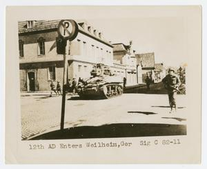 Primary view of object titled '[Soldiers Entering Weilheim]'.