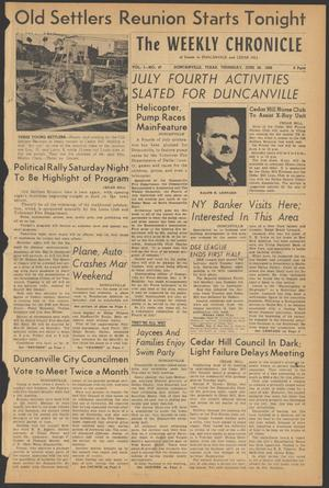 Primary view of object titled 'The Weekly Chronicle (Duncanville, Tex.), Vol. 1, No. 47, Ed. 1 Thursday, June 28, 1956'.