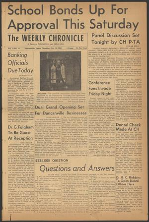The Weekly Chronicle (Duncanville, Tex.), Vol. 1, No. 10, Ed. 1 Thursday, October 13, 1955
