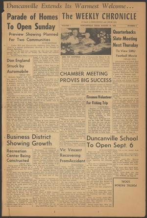 The Weekly Chronicle (Duncanville, Tex.), Vol. 1, No. 2, Ed. 1 Thursday, August 18, 1955