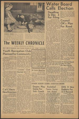 Primary view of object titled 'The Weekly Chronicle (Duncanville, Tex.), Vol. 1, No. 16, Ed. 1 Thursday, November 24, 1955'.