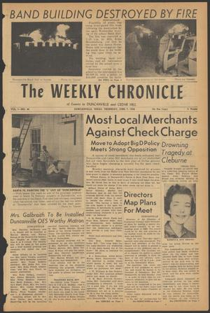 Primary view of object titled 'The Weekly Chronicle (Duncanville, Tex.), Vol. 1, No. 44, Ed. 1 Thursday, June 7, 1956'.