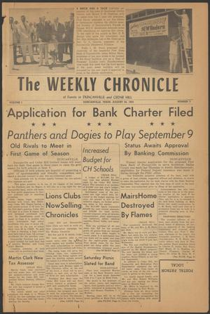 Primary view of object titled 'The Weekly Chronicle (Duncanville, Tex.), Vol. 1, No. 3, Ed. 1 Thursday, August 25, 1955'.