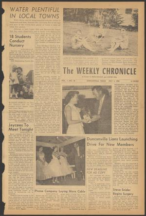 Primary view of object titled 'The Weekly Chronicle (Duncanville, Tex.), Vol. 1, No. 48, Ed. 1 Thursday, July 5, 1956'.