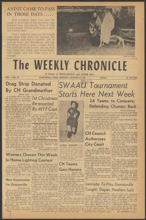Primary view of object titled 'The Weekly Chronicle (Duncanville, Tex.), Vol. 1, No. 20, Ed. 1 Thursday, December 22, 1955'.