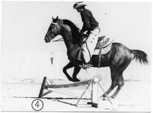 Primary view of object titled 'Monte Foreman on a Jumping Horse'.