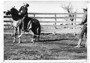 Primary view of object titled 'Two Cowboys and Horse'.