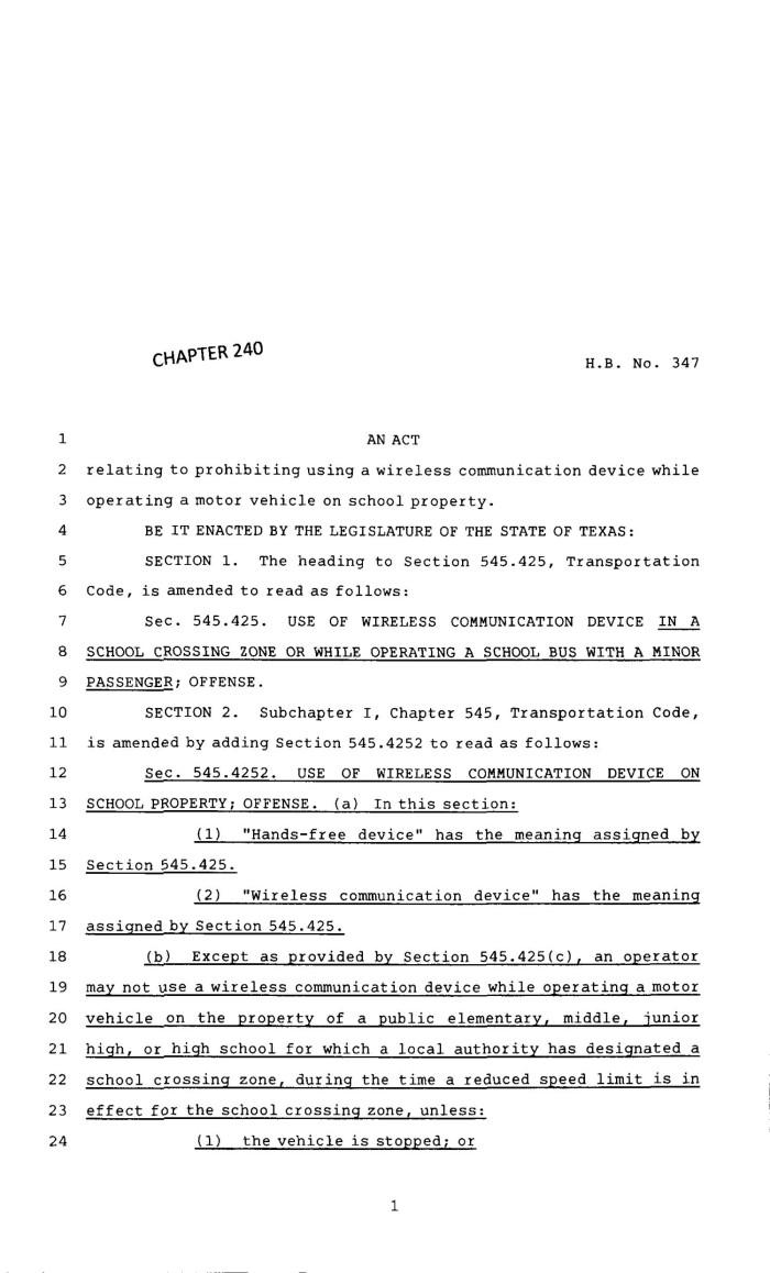83rd texas legislature regular session house bill 347 chapter 240
