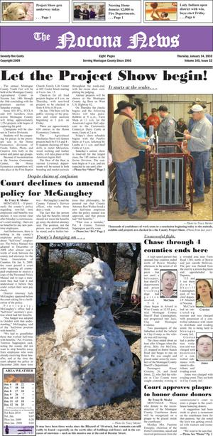 Primary view of object titled 'The Nocona News (Nocona, Tex.), Vol. 105, No. 32, Ed. 1 Thursday, January 14, 2010'.