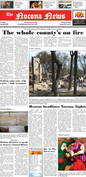 Primary view of object titled 'The Nocona News (Nocona, Tex.), Vol. 104, No. 46, Ed. 1 Thursday, April 16, 2009'.