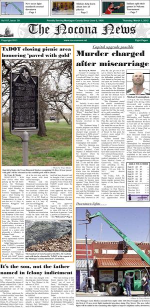 Primary view of object titled 'The Nocona News (Nocona, Tex.), Vol. 107, No. 39, Ed. 1 Thursday, March 1, 2012'.